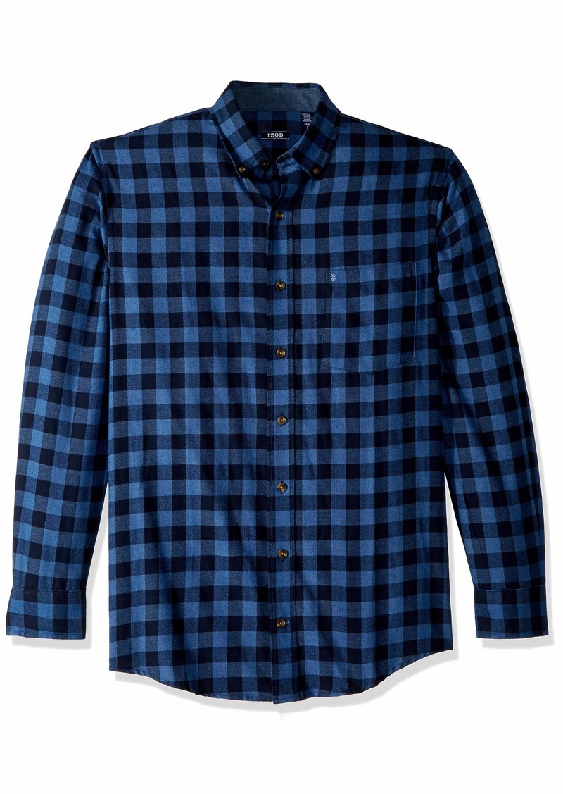 IZOD Men's Big and Tall Flannel Long Sleeve Shirt  3X-Large