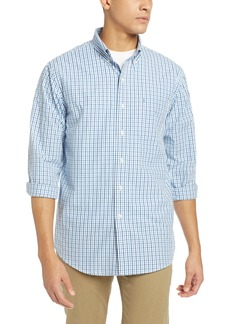 IZOD Men's Big and Tall Essential Tattersall Long Sleeve Shirt  X-Large Tall