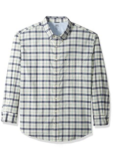 IZOD Men's Big and Tall Long Sleeve Oxford Plaid Shirt  Large