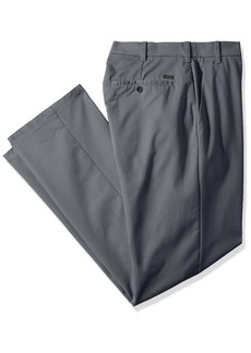 IZOD Men's Big and Tall Performance Stretch Flat Front Pant  36W X 36L