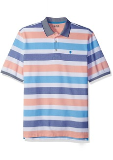 IZOD Men's Big and Tall Short Sleeve Advantage Stripe Polo  2X-Large Tall