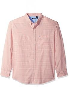 IZOD Men's Breeze Plaid Long Sleeve Shirt (Big & Tall)  3X-Large