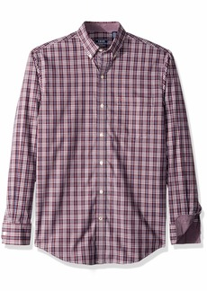 IZOD Men's Button Down Long Sleeve Stretch Performance Plaid Shirt fig