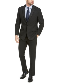 Izod Men's Classic-Fit Black Pindot Suit