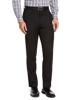 Izod Men's Classic-Fit Black Solid Suit Pants