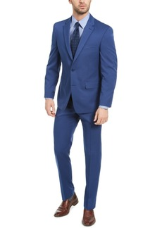Izod Men's Classic-Fit Blue Solid Suit