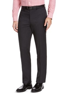 Izod Men's Classic-Fit Charcoal Sharkskin Suit Pants