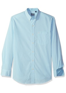 IZOD Men's Premium Essential Gingham Long Sleeve Shirt (Regular and Slim Fit)
