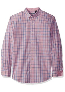 IZOD Men's Premium Essential Plaid Long Sleeve Shirt (Regular and Slim Fit)  Medium