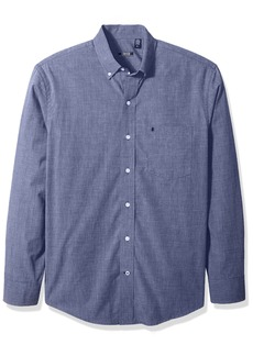 IZOD Men's Essential Solid Long Sleeve Shirt