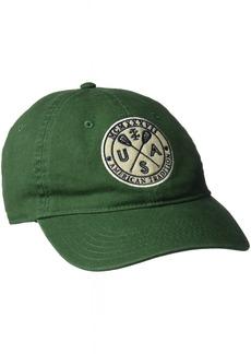 IZOD Men's Felt Embroidered Patch Adjustable Baseball Cap Green