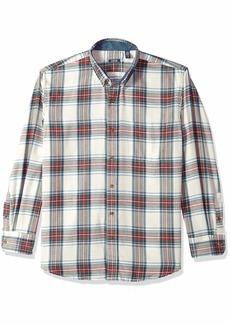 IZOD Men's Flannel Long Sleeve Shirt Vanilla