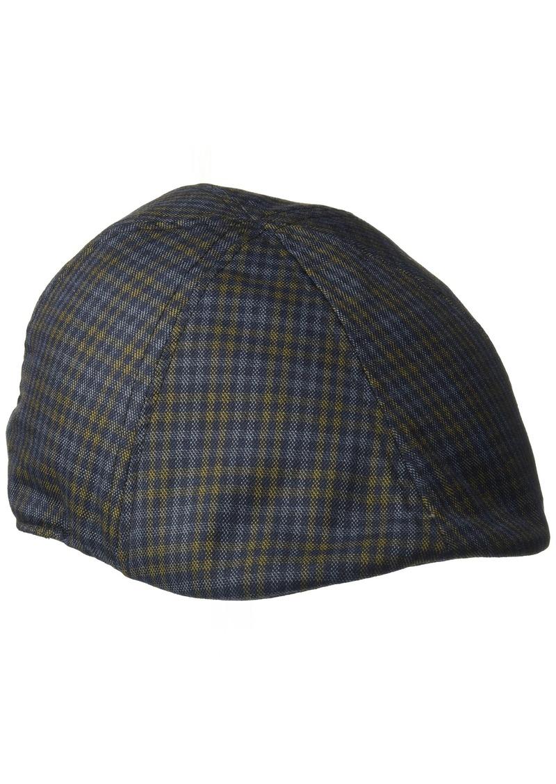 L//XL Gray IZOD Mens Gingham Mix Plaid 6 Panel Ivy Hat