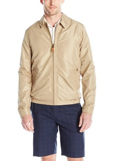 IZOD Men's Golf Jacket with Faux Leather Tabs