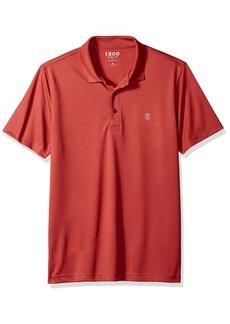 IZOD Men's Golf Title Holder Short Sleeve Polo Saltwater red L