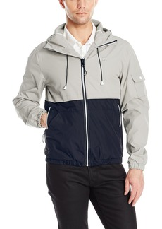 IZOD Men's Hooded Water Resistant Windbreaker Jacket  L