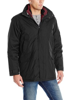 IZOD Men's Insulated 3-In-1 Parka With Zip Out Inner Jacket  Large