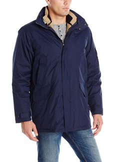 IZOD Men's Insulated 3-In-1 Parka with Zip Out Inner Jacket  Medium
