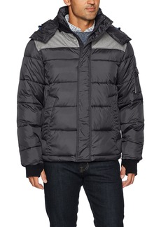 IZOD Men's Insulated Puffer Jacket With Removable Hood  XL