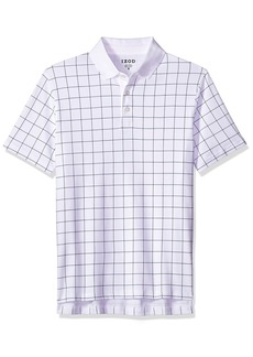 IZOD Men's Interlock Short Sleeve Windowpane Polo Shirt