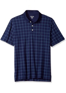 IZOD Men's Interlock Windowpane Polo