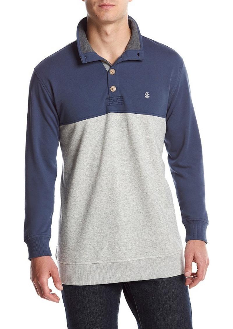Izod izod men 39 s light colorblock mock neck pullover for Mens mock turtleneck shirts sale