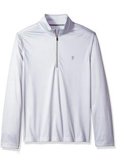 IZOD Men's Long Sleeve 1/4 Zip Print Pullover