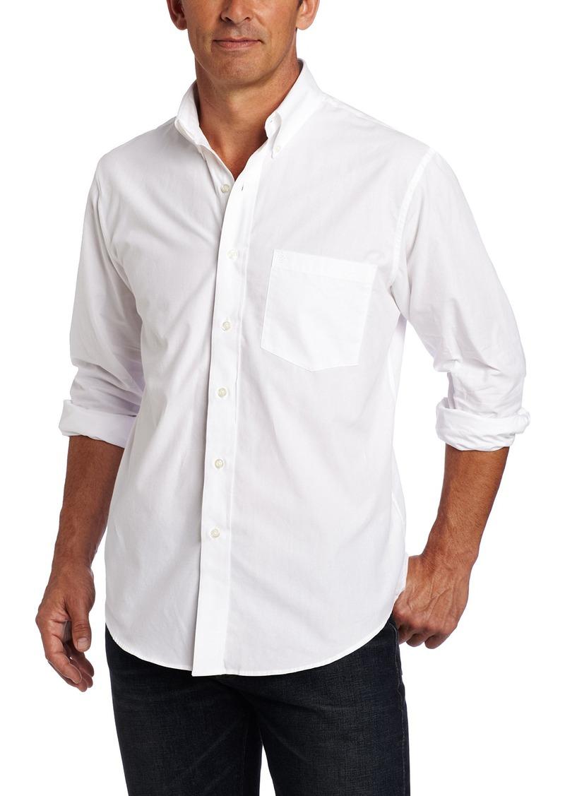 IZOD Men's Performance Natural Stretch Solid Long Sleeve Shirt (Regular and Slim Fit)