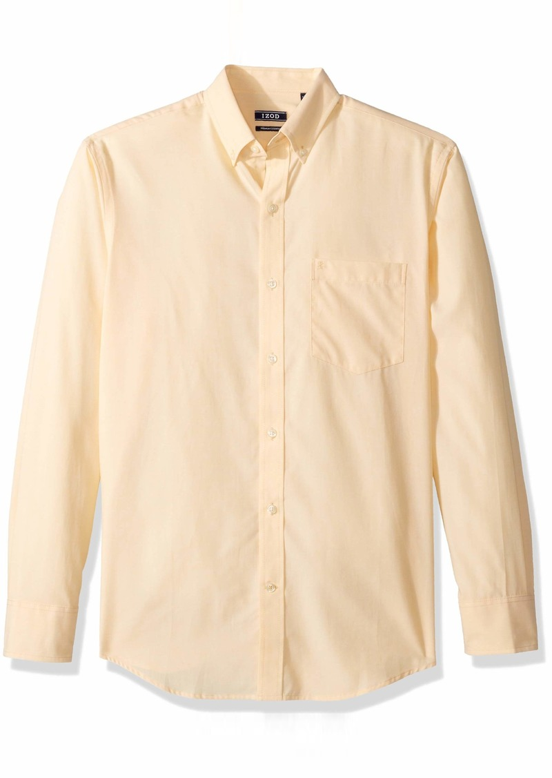 IZOD Men's Long Sleeve Performance Stretch Casual Button Down Shirt (Regular and Slim Fit)  2X-Large