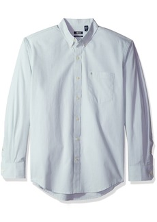 IZOD Men's Long Sleeve Performance Stretch Casual Button Down Shirt (Regular and Slim Fit)
