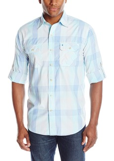 IZOD Men's Saltwater Easy Care Long Sleeve Shirt