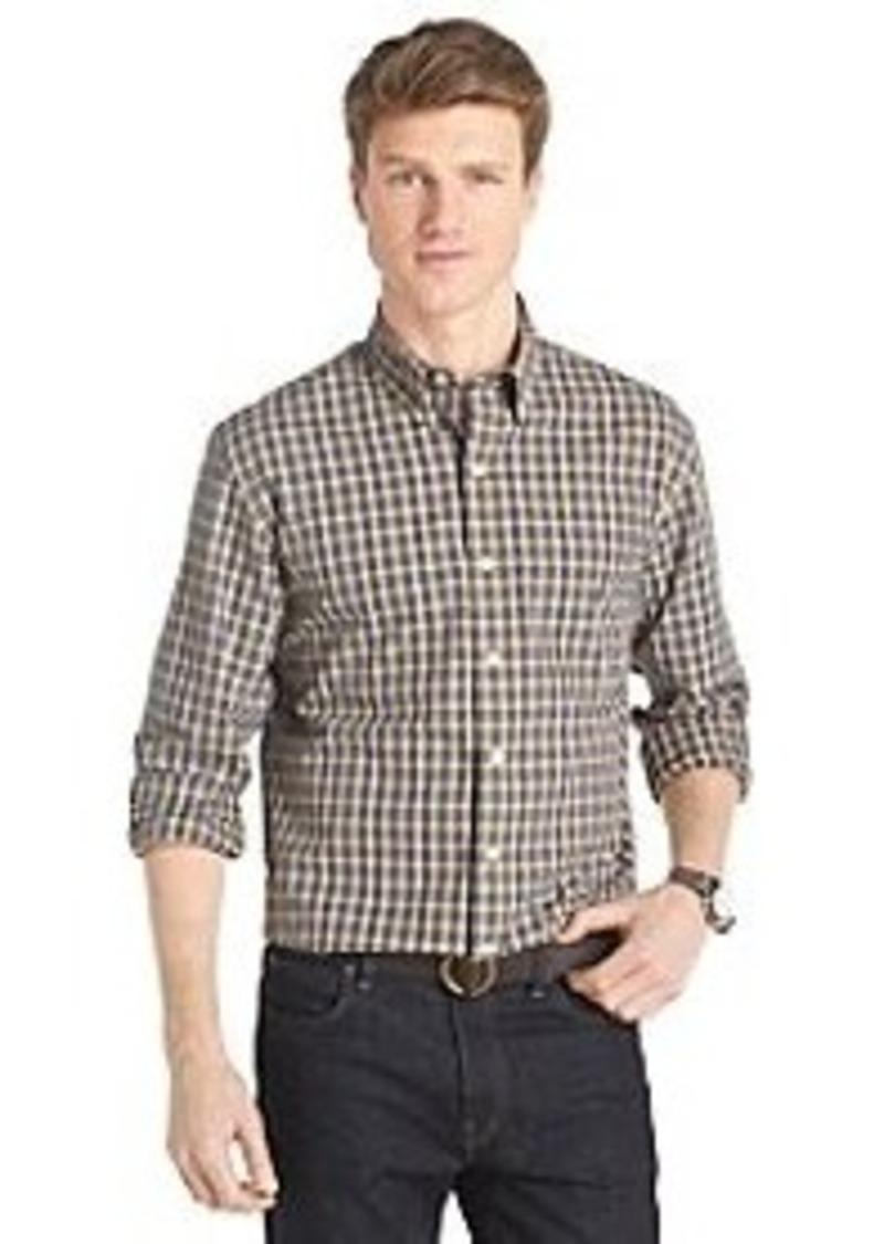 Izod izod men 39 s long sleeve tartan medium basketweave for Mens medium long sleeve shirts
