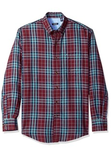 IZOD Men's Long Sleeve Twill Easycare Plaid Shirt