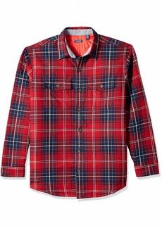 IZOD Men's LS Shirt Jacket Biking red