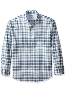 IZOD Men's Oxford Plaid Long Sleeve Shirt