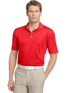 Izod Men's Performance Upf 15+ Solid Grid Golf Polo