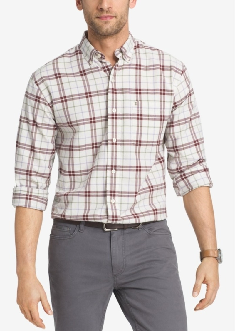 Izod Men's Plaid Long-Sleeve Shirt