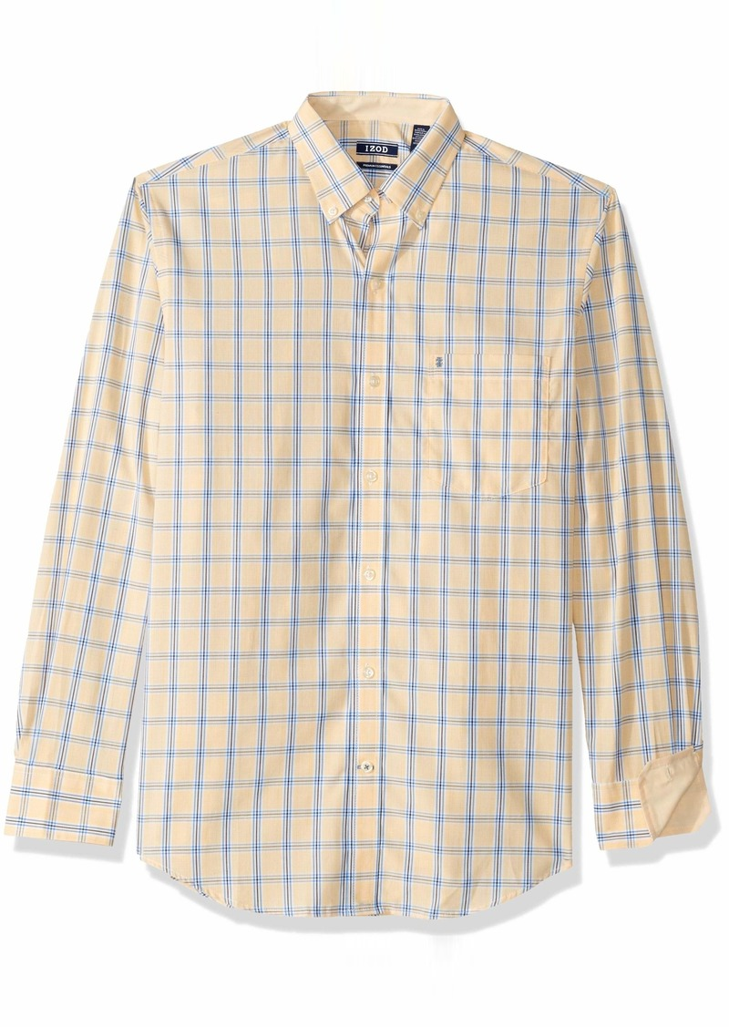 IZOD Men's Premium Essential Check Long Sleeve Shirt (Regular and Slim Fit)