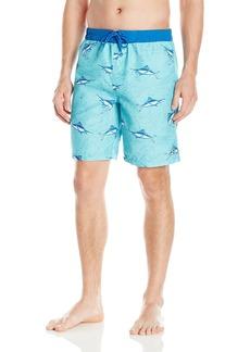 IZOD Men's Printed Swim Trunk