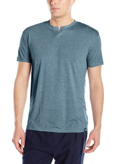 IZOD Men's Rayon Poly Textured Knit Short Sleeve Henley
