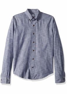 IZOD Men's Saltwater Blues Slim Fit Long Sleeve Shirt Medieval