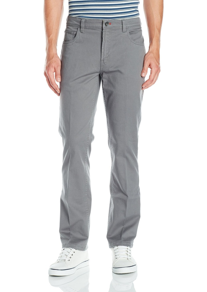 IZOD Men's Saltwater Chino Straight Fit 5 Pocket Stretch Pant