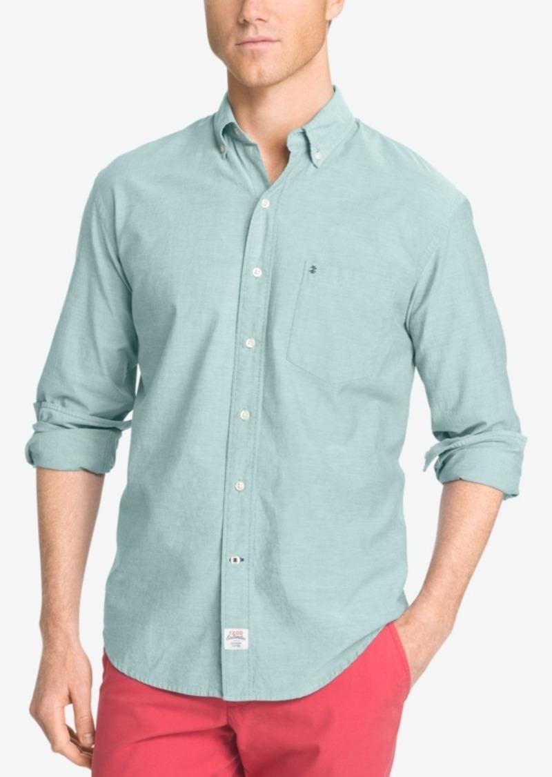 Izod Men's Saltwater Long-sleeve Shirt