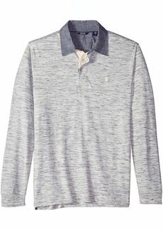 IZOD Men's Saltwater Long Sleeve Shirt Vanilla ice