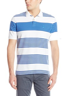IZOD Men's Advantage Performance Stripe Polo Bright White
