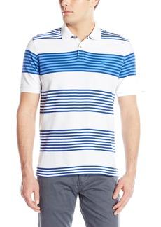 IZOD Men's Advantage Performance Stripe Polo Bright White