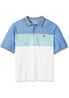 IZOD Men's Short Sleeve Advantage Stripe Polo (Big Tall Slim)  Large