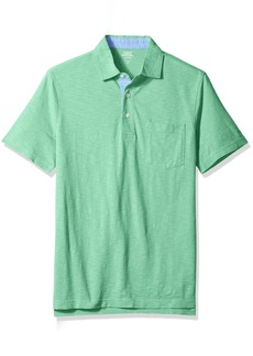 IZOD Men's Short-Sleeve Saltwater Wellfleet Polo Creme DE MENTH