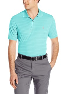 IZOD Men's Short Sleeve Textured Stripe Traditional Golf Polo  2X-Large