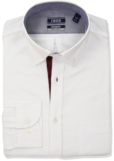 IZOD Men's Slim Fit Collegiate Burgundy Dress Shirt